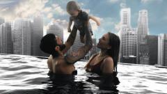 Indosport - Pemain Bali United, Stefano Lilipaly bersama sang istri, Carmen Rowena, dan putra pertamanya.