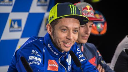 Valentino Rossi dalam jumpa pers - INDOSPORT