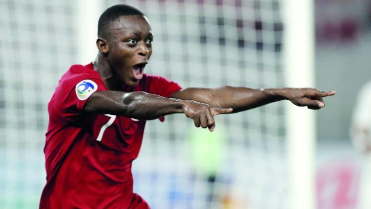 Striker Qatar U-19, Abdulrasheed Umaru yang rajin mencetak gol. Copyright: The Peninsula Qatar