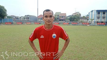Pemain Persija Jakarta, Riko Simanjuntak, sudah menggunakan hak pilihnya di Pemilu 2019. Shintya Anya Maharani/INDOSPORT. - INDOSPORT