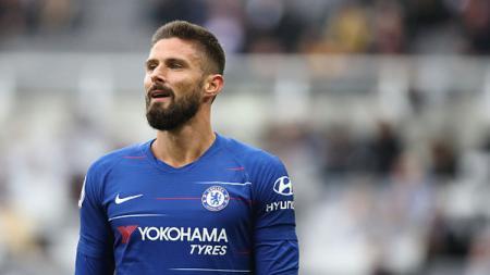 Inter Milan kabarnya tengah mengincar striker Chelsea yang bernama Olivier Giroud pada bursa transfer Januari 2020. - INDOSPORT