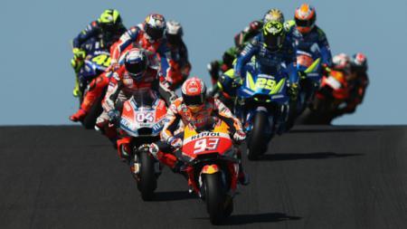 Marc Marquez di lintasan MotoGP Australia. - INDOSPORT