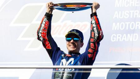 Maverick Vinales, pemenang MotoGP Australia. - INDOSPORT
