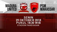 Indosport - Prediksi Madura United vs PSM Makassar.