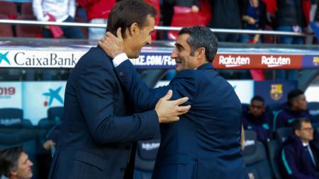 Julen Lopetegui dan Ernesto Valverde. - INDOSPORT