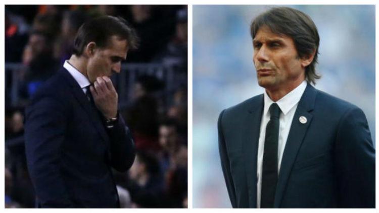 Julen Lopetegui, dan Antonio Conte. Copyright: Marca