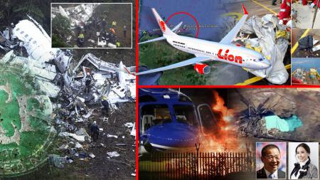 Rentetan peristiwa pesawat jatuh. - INDOSPORT