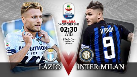 Pertandingan Lazio vs Inter Milan. - INDOSPORT
