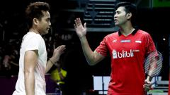 Indosport - Tontowi Ahmad dan Angga Pratama