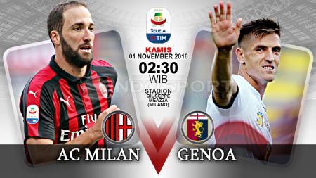 Pertandingan AC Milan vs Genoa. - INDOSPORT