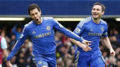 Indosport - Eden Hazard (kiri) dan Frank Lampard (kanan)