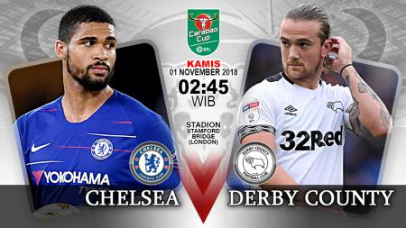Pertandingan Chelsea vs Derby County. - INDOSPORT
