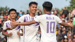 Indosport - Pemain Persita Tangerang Melakukan Selebrasi Dalam Laga Liga 2 2018