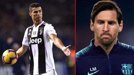 Minus Cristiano Ronaldo, Lionel Messi selaku winger Barcelona sebut lima pemain terbaik dunia. - INDOSPORT