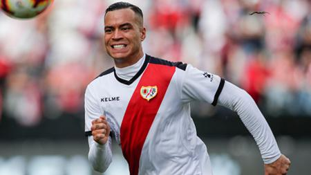 Raul de Tomas, striker Real Madrid yang dipinjamkan ke Rayo Vallecano. - INDOSPORT