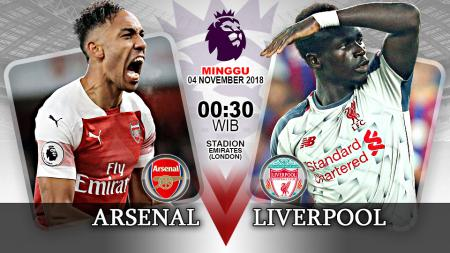 Pertandingan Arsenal vs Liverpool. - INDOSPORT