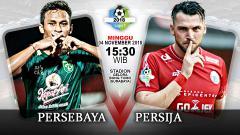 Indosport - Pertandingan Persebaya Surabaya vs Persija Jakarta.