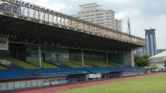 Indosport - Toilet wanita tanpa sekat menjadi pemandangan di salah satu venue SEA Games 2019, Stadion Rizal Memorial Filipina.
