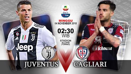 Pertandingan Juventus vs Cagliari. - INDOSPORT