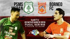 Indosport - Prediksi Pertandingan PSMS Medan vs Borneo FC