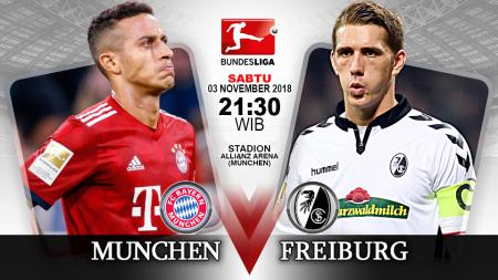 Pertandingan Bayern Munchen vs Freiburg. - INDOSPORT