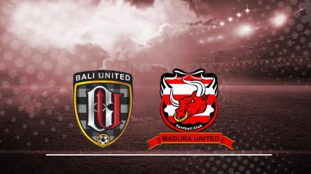 Logo Bali United dan Madura United. - INDOSPORT
