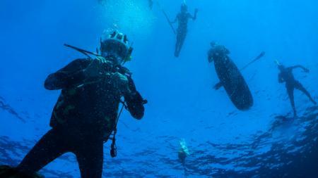 Ilustrasi menyelam atau scuba diving. - INDOSPORT