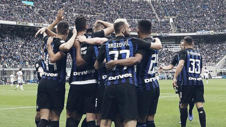 Selebrasi pemain Inter Milan saat berhadapn dengan Genoa (03/11/18). - INDOSPORT