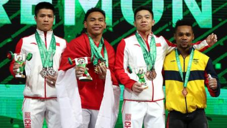 Eko Yuli juara dunia kejuaraan angkat besi di Turkmenistan. - INDOSPORT