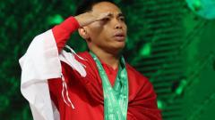 Indosport - Eko Yuli juara dunia kejuaraan angkat besi di Turkmenistan.