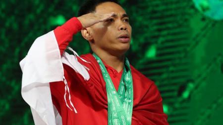Lifter muda Indonesia yang akan dibawa ke SEA Games 2019 Filipina merupakan para atlet yang sangat berprestasi, menurut atlet angkat besi senior, Eko Yuli Irawan. - INDOSPORT
