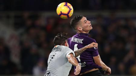 AS Roma vs Fiorentina. - INDOSPORT