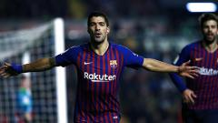Indosport - Luis Suarez, striker Barcelona.