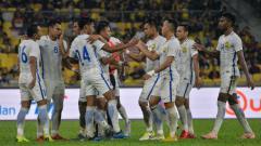 Indosport - Selebrasi Timnas Malaysia di Piala AFF 2018