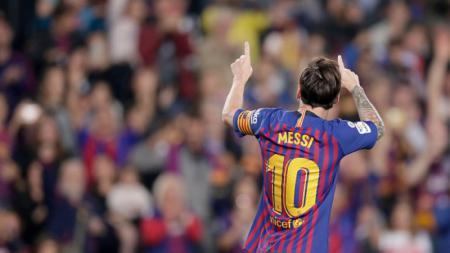 Megabintang Barcelona Lionel Messi. - INDOSPORT