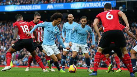 Leroy Sane membeberkan alasannya hengkang dari klub Liga Inggris, Manchester City, menuju Bayern Munchen. - INDOSPORT