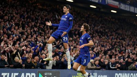 Alvaro Morata mencetak dua gol untuk Chelsea saat mengalahkan Crystal Palace 3-1. - INDOSPORT