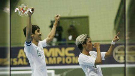 Timnasl futsal Indonesia meraih kemenangan atas Myanmar pada AFF Futsal Championship 2018 di Yogyakarta, Senin (5/11/2018). - INDOSPORT