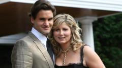 Indosport - Roger Federer dan istrinya, Mirka.