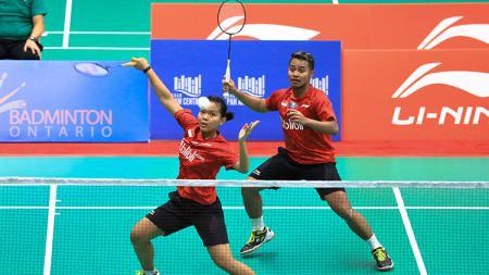 Pasangan ganda campuran nasional, Rehan Naufal Kusharjanto/Siti Fadia Silva Ramadhanti dalam aksinya di ajang BWF World Junior Championships 2018 - INDOSPORT