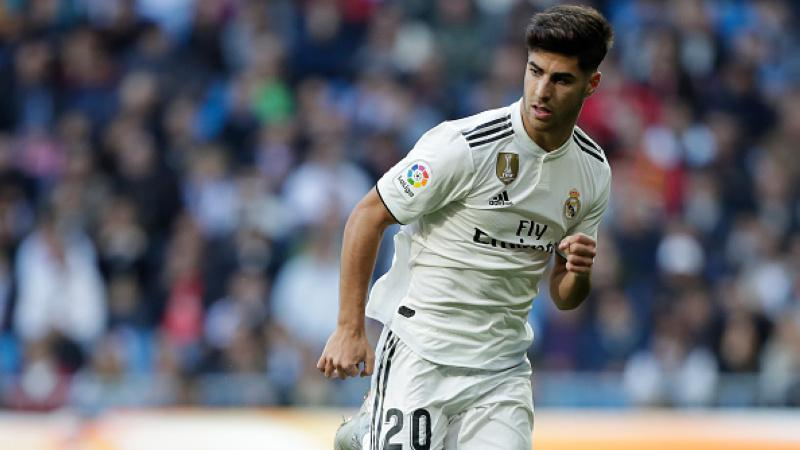 Marco Asensio saat melawan Real Valladolid Copyright: Getty Images