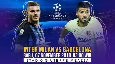 Link Live Streaming Liga Champions antara Inter Milan vs Barcelona. - INDOSPORT