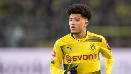 Gelandang Borussia Dortmund, Jadon Sancho, mendapat lampu hijau untuk hijrah ke Manchester United pada bursa transfer mendatang - INDOSPORT