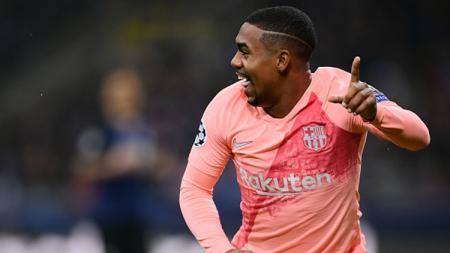 Malcom berselebrasi usai mencetak gol ke gawang Inter. - INDOSPORT
