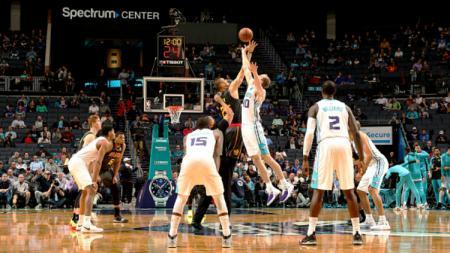 Pertandingan NBA Charlotte Hornets vs Atlanta Hawks. - INDOSPORT
