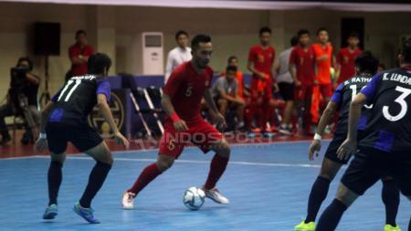 Piala AFF Futsal matchday ketiga antara Indonesia vs Kamboja. - INDOSPORT