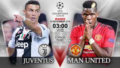 Indosport - Pertandingan Juventus vs Manchester United.