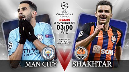 Link Live Streaming Pertandingan Liga Champions: Manchester City vs Shakhtar Donetsk. - INDOSPORT