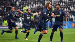 Indosport - Aksi selebrasi pemain Manchester United1