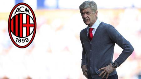 Mantna pelatih Arsenal, Arsene Wenger yang dikabarkan segera melatih AC Milan di bulan Januari 2019. - INDOSPORT